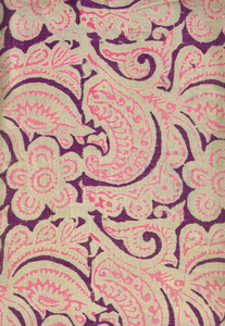 ornamental patterns on silk 3: pattern of Indian silk scarves
