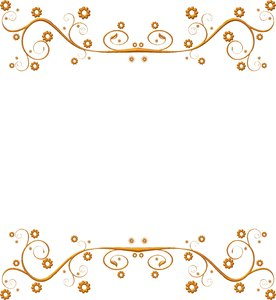 Ornate Metallic Border 3: A golden metallic ornate swirly border or ...