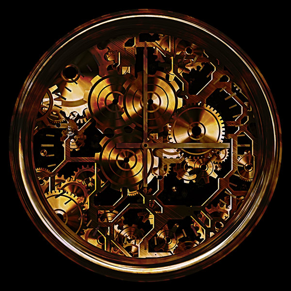 Fantasy Clock 3: A grungy fantasy clock in dark colours against a dark background. You may prefer this:  http://www.rgbstock.com/photo/nYgJnd4/Grunge+Clock  or this:  http://www.rgbstock.com/photo/nS52DM2/Fantasy+Clock+2