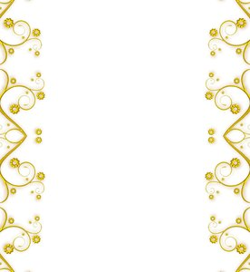 Ornate Metallic Border 7: A golden metallic ornate swirly border or ...