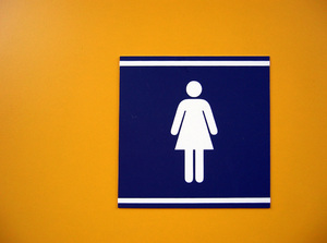 Ladies restroom pictogram