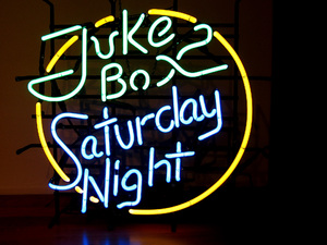 Jukebox sturday night neon