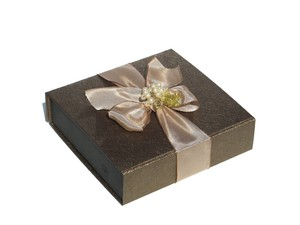 brown gift box: none