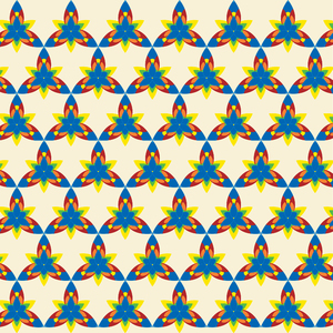 Flower-pattern 02: colorful geometric design made in Illustrator