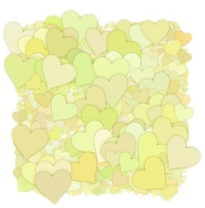 Hearts Texture 2: A 3d cluster of decorative hearts which makes a great texture, fill, stand-alone image or background.
