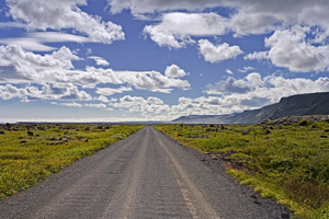 Lonely road Iceland: Picture was taken in Iceland