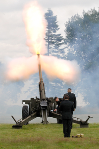 21 Gun Salute: Anti Aircraft weapon firing a salute on Remembrance Day.