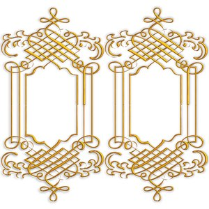 Golden Ornate Border 9: Twin golden ornate borders or frames on a ...