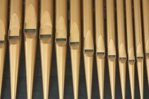 Organ pipes: Detail of organ pipes