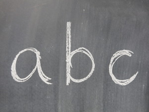 chalkboard alphabet: no description