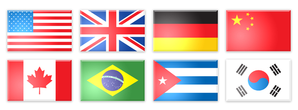 flags: Flags from many countries