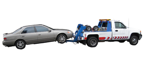Tow: A car towing a car.