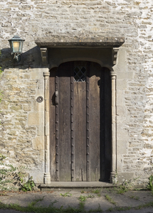 Old door: A door in an old rural house in Wiltshire, England.