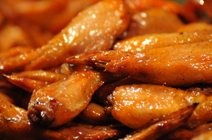 chicken wings texture