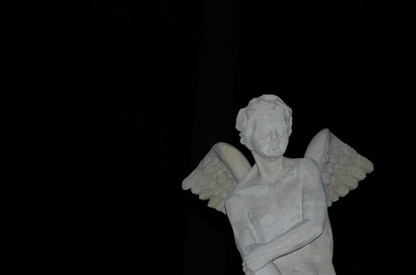angel: A statue of an angel.