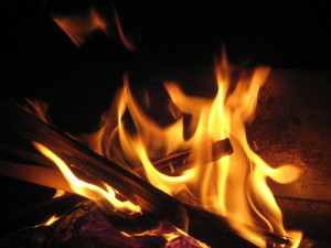 Fire: Flames of open fire