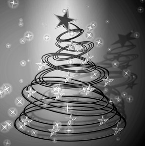 Abstract Christmas Tree 4: A black and white version of my original golden tree. Please use according to the site licence. You may prefer:  http://www.rgbstock.com/photo/2dyVQYr/Abstract+Christmas+Tree  or:  http://www.rgbstock.com/photo/2dyWSge/Abstract+Christmas+Tree+2