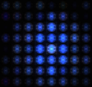 blue lights matrix: abstract background, texture, patterns and perspectives