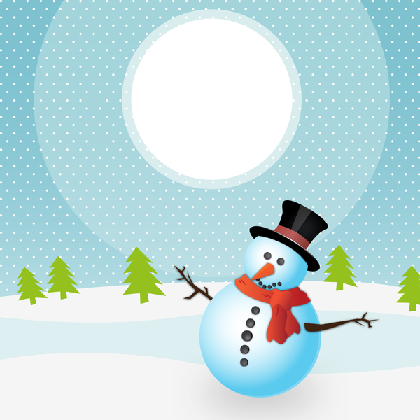 Landscape with snowmen - 3