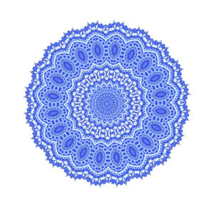 blue lace doily1: imitation intricate fine lace-work doily