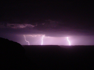 lightning over grand canyon 3