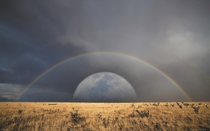 Rainbow on the moon