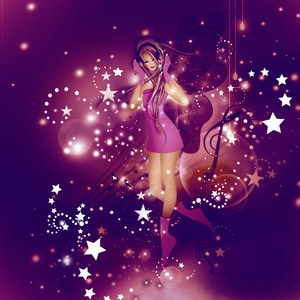 Music Fairy: Fantasy Illustration