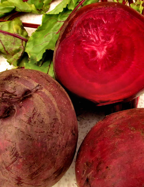 beetroot colour1: raw beetroot including cut half