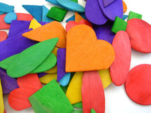 Colorful Wood Craft Items: Brightly colored wood craft items for making crafts