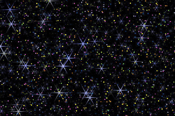 Stars and Confetti: A magical background filled with stars and confetti makes a great new year or other celebratory backdrop, texture or fill.