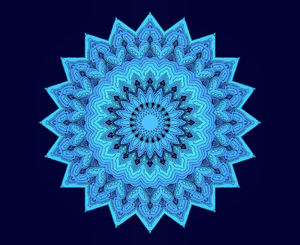 blue sketch layered mandala