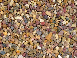 Decorative Gravel: Decorative aggregate stones for landscaping.