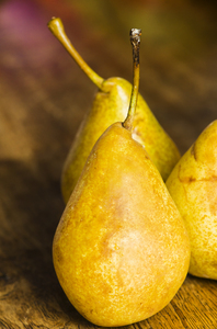 Pears: Pear still on wooden background
