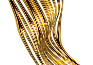 Golden wave illustration: wave illustration