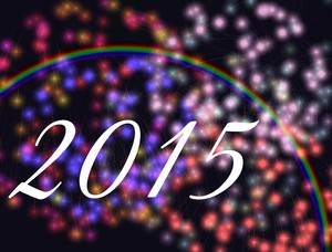 2015: A graphic celebrating the new year, 2015.