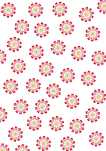 pink and red flower pattern
