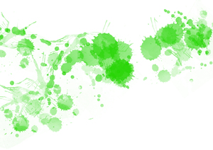 Green Ink Splats