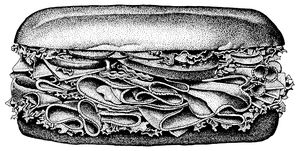 Sub Sandwich: An illustration of a sub sandwich.