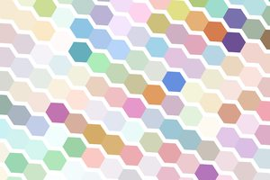 Hexagonal Texture: A hexagonal texture in a pastel rainbow of colours.