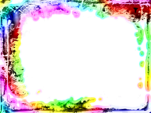 Girly Grunge Frame 2: A rainbow coloured girly grunge frame on a white background. You may prefer:  http://www.rgbstock.com/photo/2dyWkKP/Girly+Grunge  or:  http://www.rgbstock.com/photo/dKTw1g/Layered+Abstract+Frame