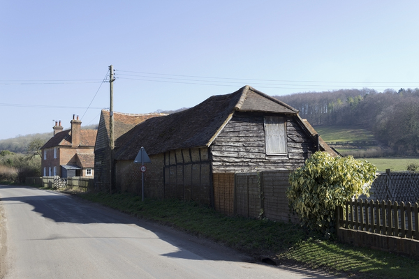 English village: Part of a village in the Chilterns, England.