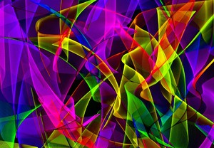 Wild Gossamer Waves 6: Abstract gossamer waves in vivid colours. You may prefer: http://www.rgbstock.com/photo/mqCnDMg/Otherworld+8  or:  http://www.rgbstock.com/photo/2dyX9sA/Vivid+Abstract