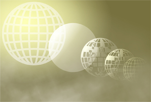 Globe Clipart: Abstract grid globe background.