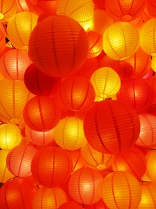 orange lanterns background: orange lanterns background