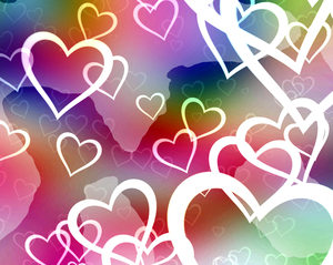 Hearts Background 9