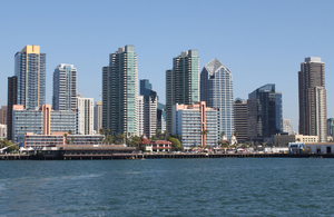 San Diego: San Diego water front from the sea