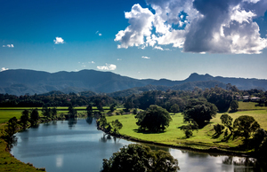 Murwillumbah: Looking across Murwillumbah Valley, NSW Australia. Photo taken Bakers Rd.