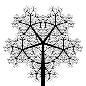 Fractal Tree 12: An ornate fractal tree in black and white. Use within image licence or contact me. You may prefer:  http://www.rgbstock.com/photo/omq8J1C/Fractal+Tree+8  or:  http://www.rgbstock.com/photo/nlvstHS/Fractal+Tree