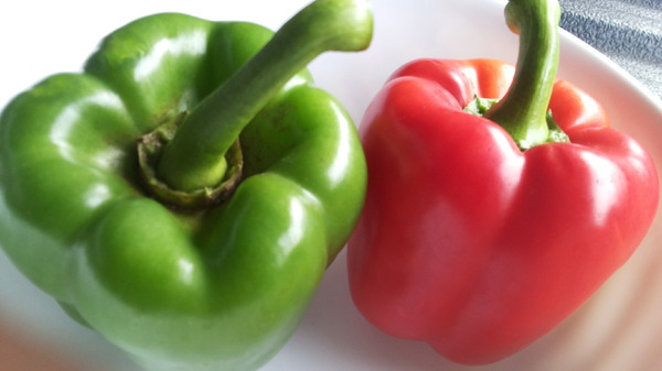 two sweet pepper