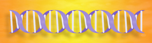 DNA Graphic: Graphic of a DNA molecule.